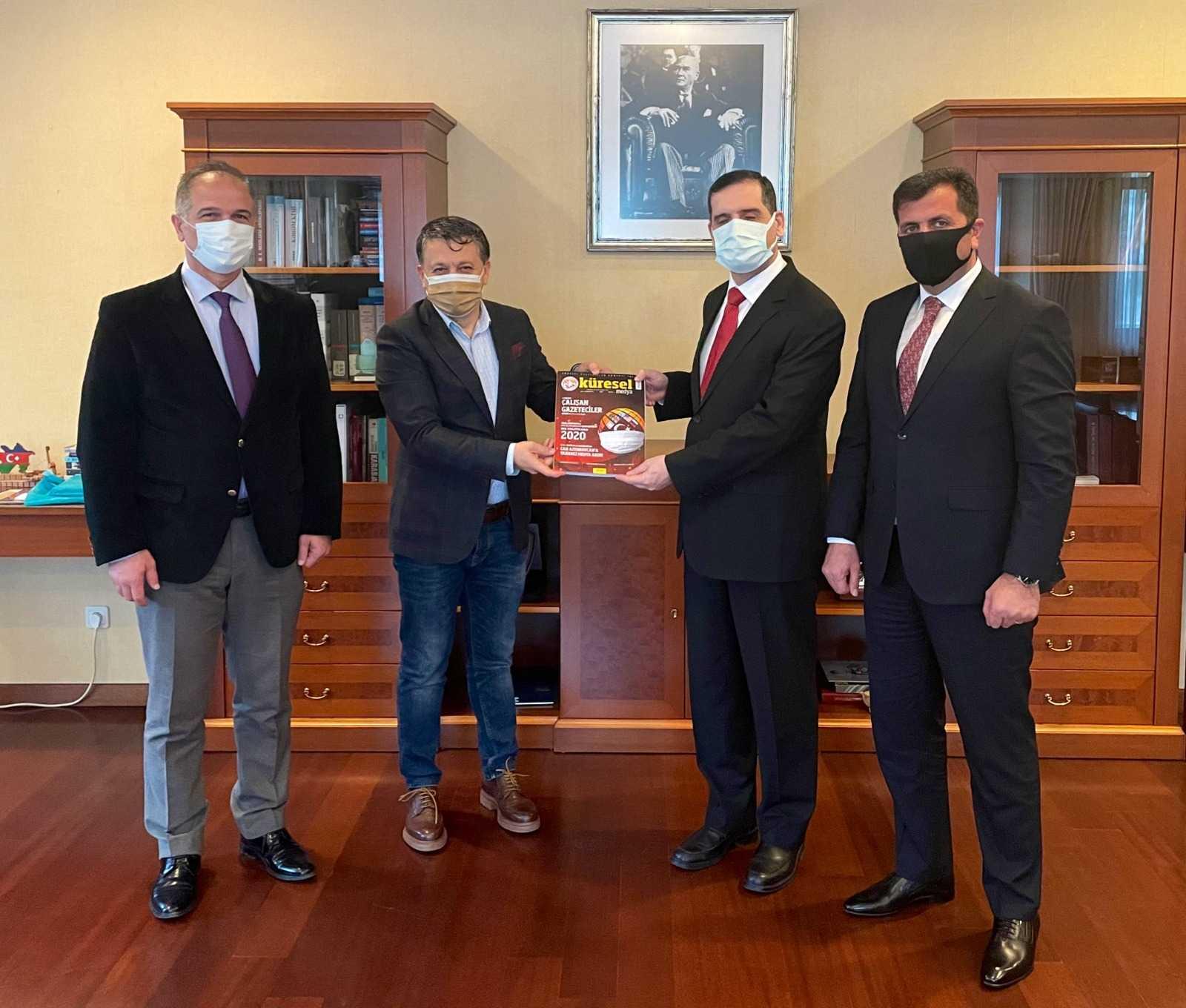 KGK'dan Bakü Büyükelçisi Özoral'a ziyaret